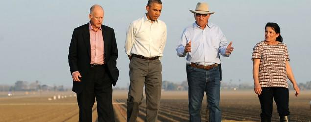 Farmer visited by Obama is face of Calif. drought