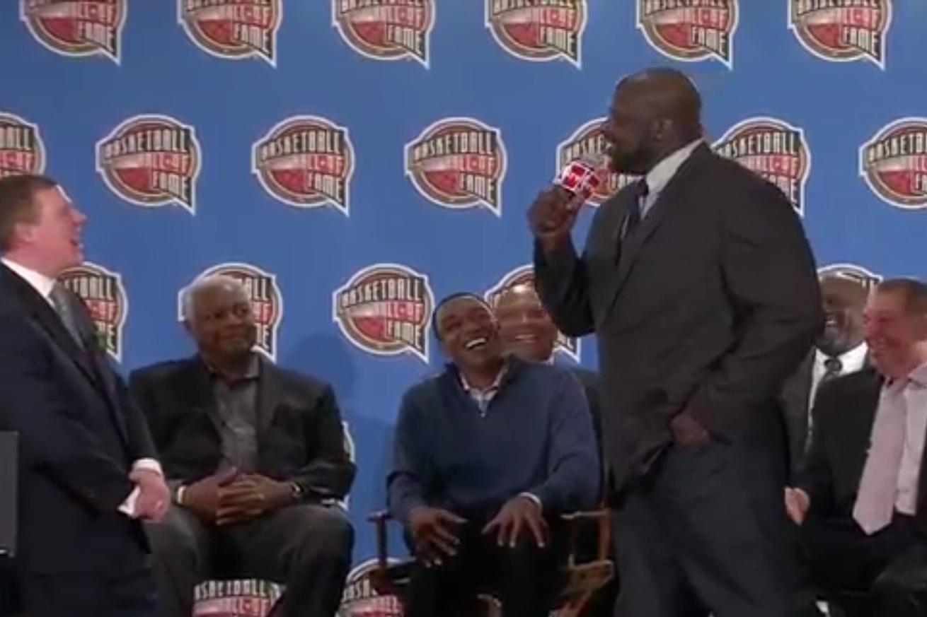 Shaq turned his Hall of Fame nomination speech into a roast