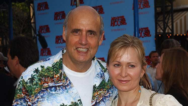 "Jeffrey Tambor with wife Kasia at the ""Monster House"" Los Angeles Premiere."