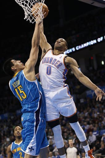 Thunder top Hornets for 10th win in 11 games