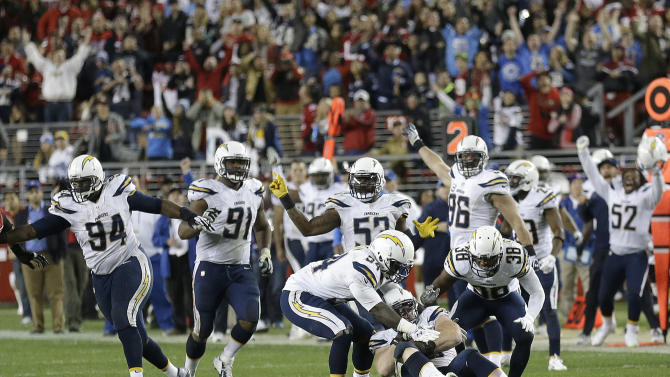 Novak's 40-yard FG lifts Chargers past 49ers
