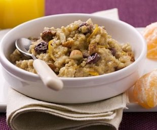 Cherry and tangerine oatmeal