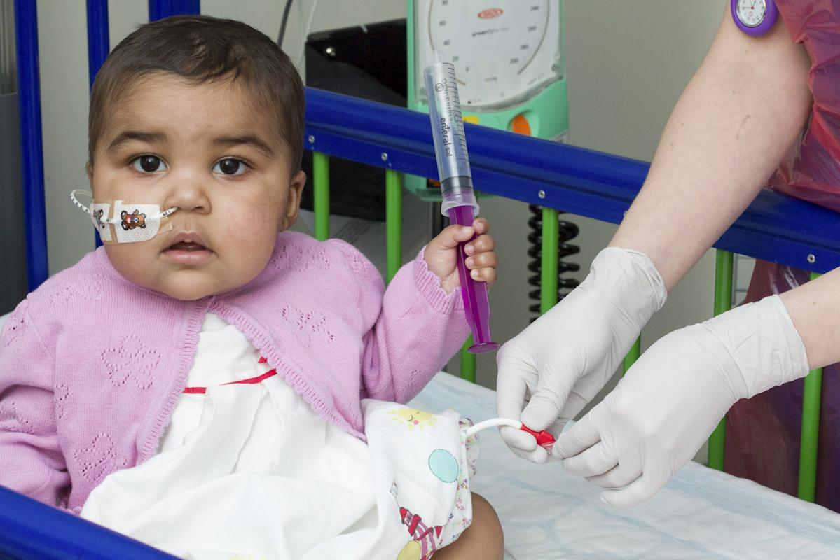 Great Ormond Street Hospital handout photo shows baby Layla at the hospital in London