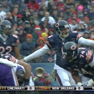 Chicago Bears quarterback Jay Cutler: Line up over there!