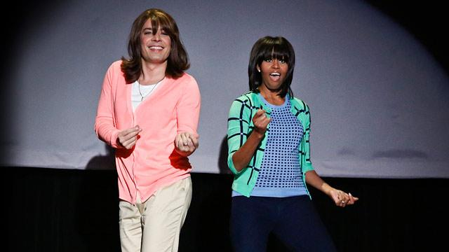 Michelle Obama Busts a Move in 'Evolution of Mom Dancing'