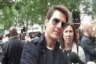 "Tom Cruise nos pone a rocknrollear en el estreno europeo de ""Rock of Ages"""