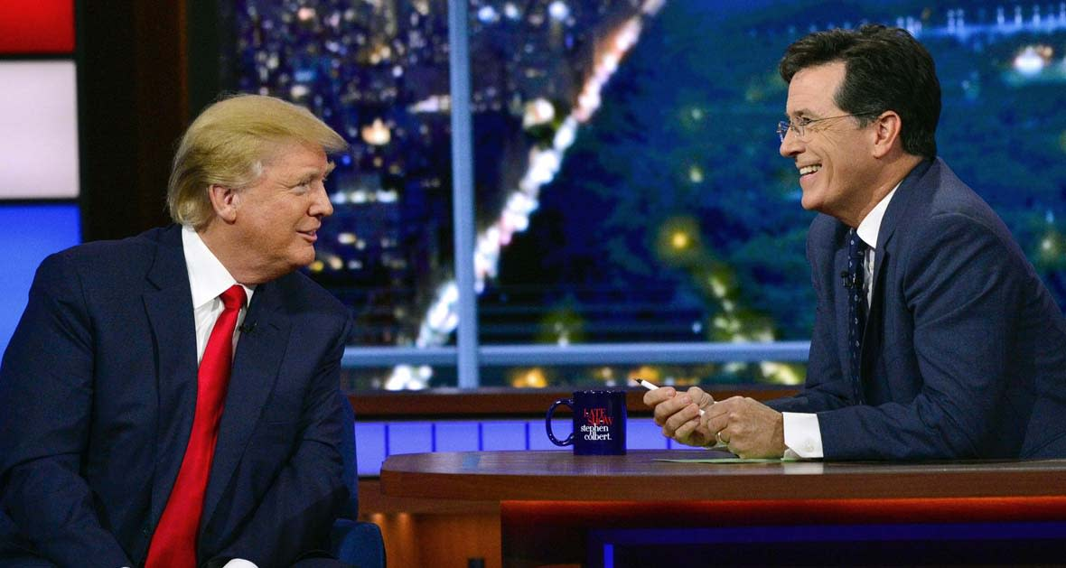 Donald Trump Wins Stephen Colbert's Third Week As 'Late Show' Host In L+7