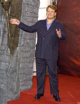 Andy Richter ponders becoming a rampaging monster and destroying the building next to him. MTV Movie Awards - 6/5/2004