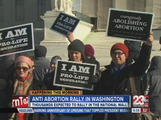 Anti-abortion rally in Washington
