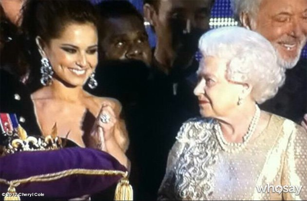 The Queen, Cheryl Cole, Diamond Jubilee Concert