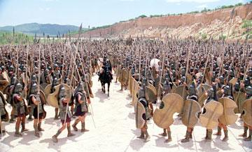 The army parts for Achilles in Warner Brothers' Troy