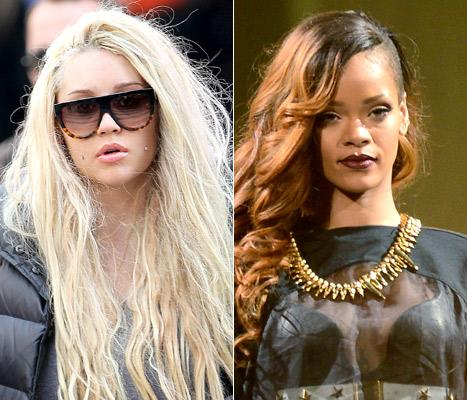 Amanda Bynes Denies Bashing Rihanna on Twitter, Plans to Become a Rapper