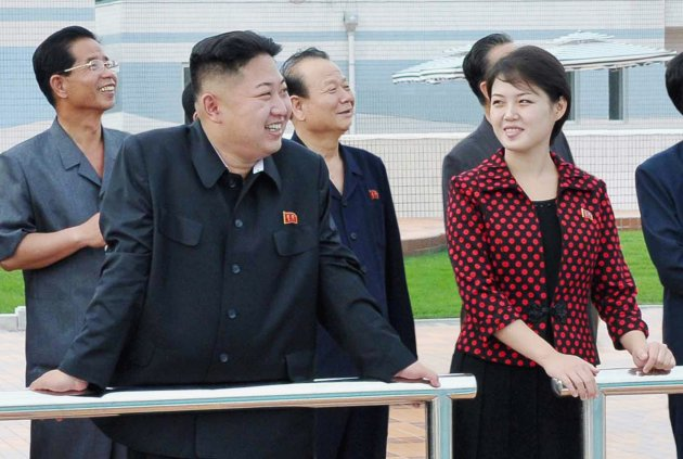 North Korean leader Kim Jong-Un (2nd L) and his wife, who was named by the state broadcaster as Ri Sol-ju, visit the Rungna People's Pleasure Ground, in Pyongyang in this undated picture released by the North's KCNA on July 25, 2012. Kim Jong-un has married, state media said on Wednesday, putting an end to speculation over the relationship with a woman seen at his side during a recent gala.