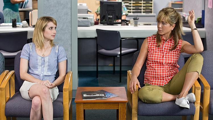 "Emma Roberts and Jennifer Aniston in Warner Bros.' ""We're The Millers"" - 2013"