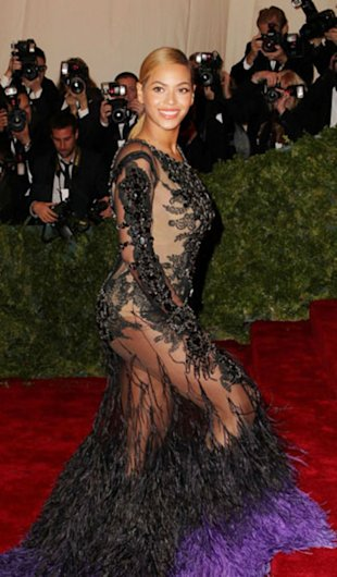 Beyonce at the Met Gala.