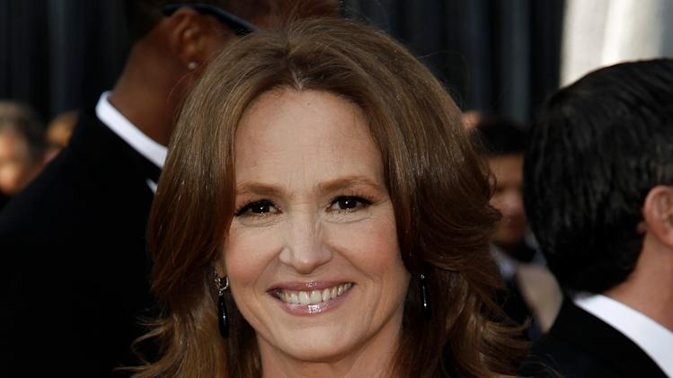 Melissa Leo arrives before the 84th Academy Awards on Sunday, Feb. 26, 2012, in the Hollywood section of Los Angeles. (AP Photo/Matt Sayles)