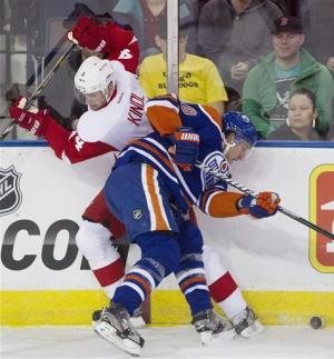 Datsyuk's OT goal lifts Red Wings past Oilers