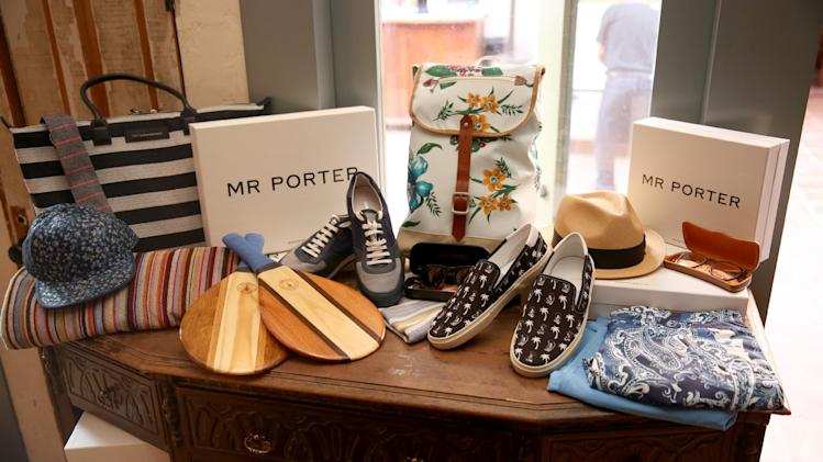 A view of MR PORTER product a Digital Mavericks 2014 hosted by DETAILS and MR PORTER at 41 Ocean Club on Wednesday, April 16, 2014, in Santa Monica, Calif. (Photo by Matt Sayles/Invision for DETAILS Magazine/AP Images)