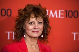 Actress Susan Sarandon arrives at the Time 100 gala celebrating the magazine's naming of the 100 most influential people in the world for the past year in New York