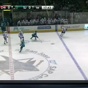 Melker Karlsson Hit on Patrick Kane (02:13/1st)