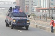 File picture shows a police vehicle in Lagos. Gunmen have opened fire on an evangelical church in central Nigeria, killing at least 19 people as a services was being held in the latest such attack in the country, officials and local media said Tuesday