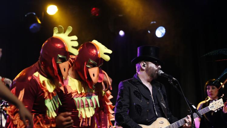 "Musician Dave Stewart performs during the ""VaVoom - A Rock 'N Roll Circus"" show at El Rey theatre in Los Angeles"