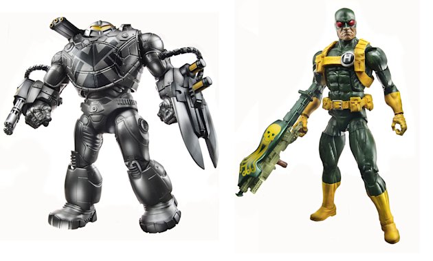 New Manadroid, left, and Hydra Soldier action figures