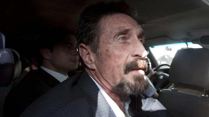 Anti-virus software developer McAfee arrives in US