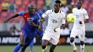 Ghana's John Boye (R) plays against Cape Verde's Julio Tavares (L) during their African Cup of Nations (AFCON 2013) quarter-final match at the Nelson Mandela Bay Stadium in Port Elizabeth, February 2, 2013 (Reuters)