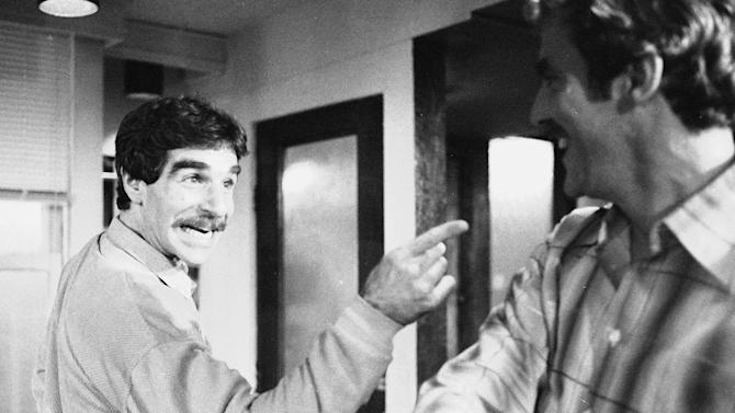 """CORRECTS DATE OF DEATH TO MARCH 19 - FILE - In this Nov. 11, 1979 file photo, Harry Reems rehearses for his legitimate theater debut in an Off-Broadway comedy-drama, """"The Office Murders,"""" in New York. Reems, the former porn star who co-starred in the 1972 movie """"Deep Throat,"""" died Tuesday, March 19, 2013 in Slat Lake City.  He was 65. (AP Photo/Ron Frehm, File)"""