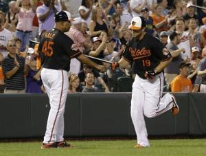 Davis' 3 HRs leads Orioles over Blue Jays 6-4