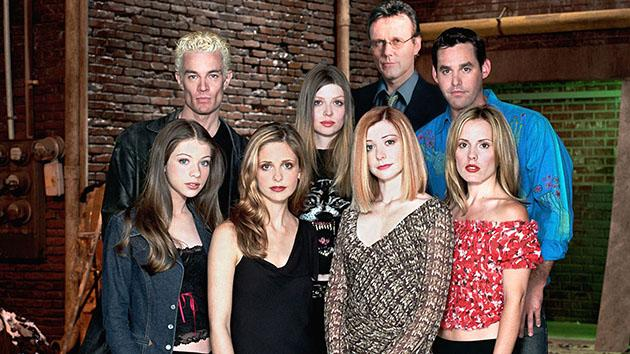 """Buffy the Vampire Slayer"" - Michelle Trachtenberg, James Marsters, Sarah Michelle Gellar, Amber Benson, Anthony Stewart Head, Alyson Hannigan, Nicholas Brendon, Emma Caulfield"