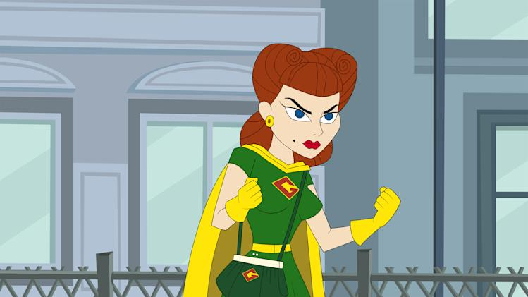 "This publicity image released by Hulu shows Gadget Gal, voiced by Paula Pell, in a scene from ""The Awesomes."" The animated series premieres Aug. 1, on Hulu. (AP Photo/Hulu)"