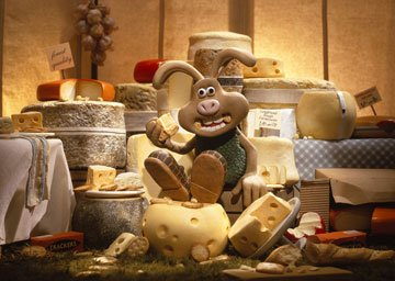 Hutch the rabbit has an unusual craving for cheese in DreamWorks Animation's Wallace & Gromit: The Curse of the Were-Rabbit