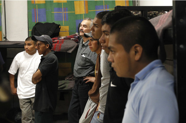 Dozens of immigrants, many of them Mexican citizens, gather in sleeping quarters at a well known immigrant shelter, as many are making tough decisions on whether to try their luck at trying to make it