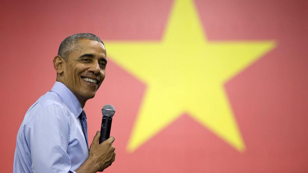 Obama Fields Most Colorful Town Hall to Date in Vietnam