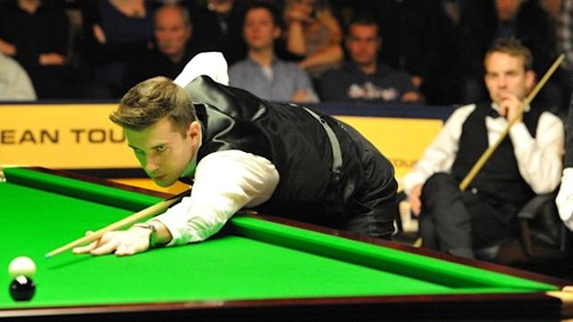 CREDIT: Monique Limbos. mark selby and allister carter in the 2012 antwerp open