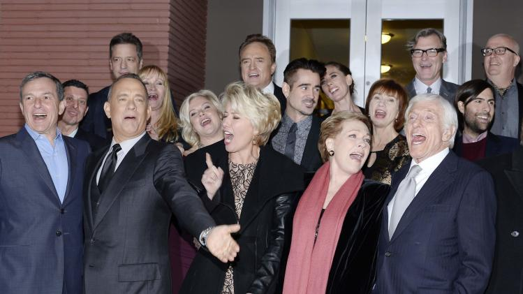 "Studio executives and actors attend the film premiere of ""Saving Mr. Banks,"" at the Walt Disney Studios in Burbank"