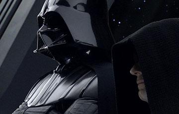 Hayden Christensen as Darth Vader and Ian McDiarmid as Emperor Palpatine in 20th Century Fox's Star Wars: Episode III
