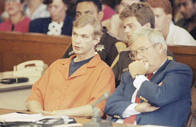 Jeffrey Dahmer, an accused serial killer in the area of Milwaukee, Wisconsin is shown in 1991. (AP Photo)
