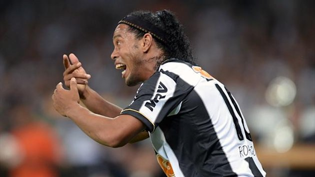Ronaldinho's thigh injury has improved quicker than expected (AFP)