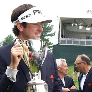 Bubba Watson interview after winning the Travelers Championship