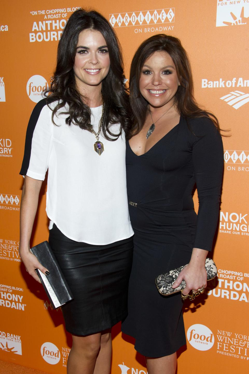 "Katie Lee Joel, left, and Rachael Ray attend ""On The Chopping Block: A Roast of Anthony Bourdain"" on Thursday, Oct. 11, 2012 in New York. (Photo by Charles Sykes/Invision/AP Images)"