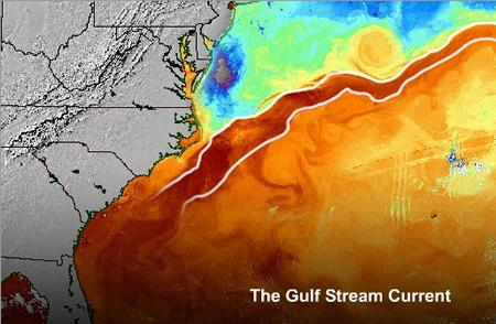 Gulf Stream Diverted More Than 100 Miles North in 2011