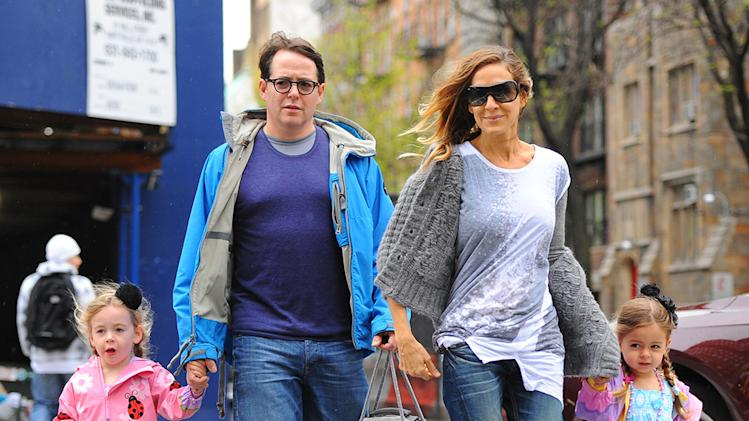 Sarah Jessica Parker and Matthew Broderick walk to school in NYC with their daughters Tabitha and Marion
