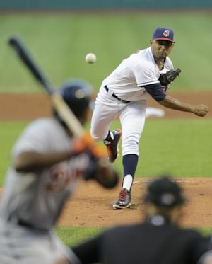 Salazar pitches first shutout in Indians' 7-0 win