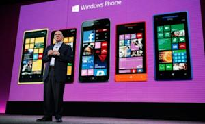 Microsoft CEO Steve Ballmer unveils the new Windows Phone 8 on Oct. 29.