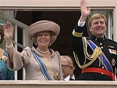 Dutch Queen Beatrix Gives Throne to Son