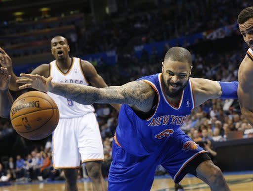 Knicks win 12th straight, 125-120 over Thunder