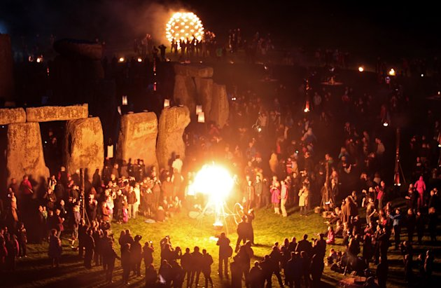Salisbury International Arts Festival Hosts The Fire Garden At Stonehenge